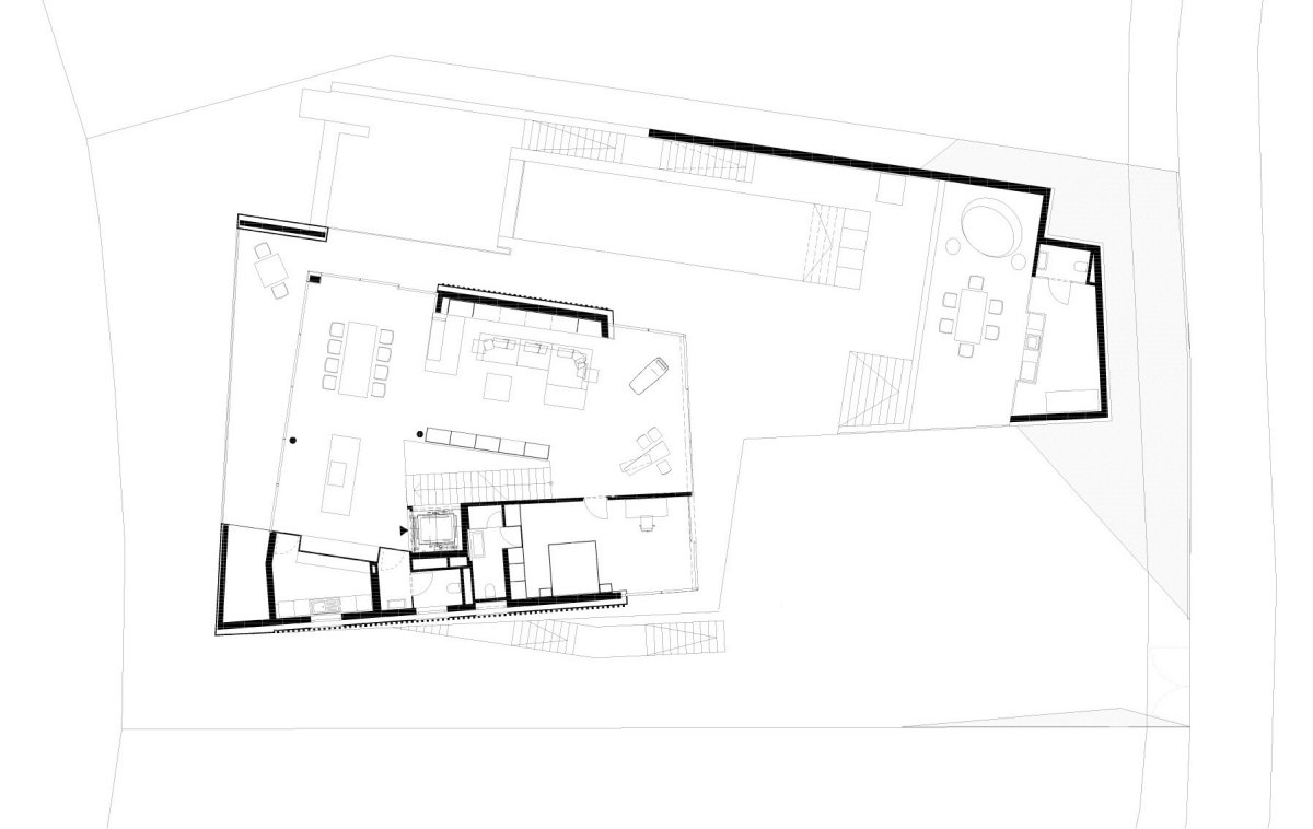 First Floor Plan, KS House in Stein, Austria