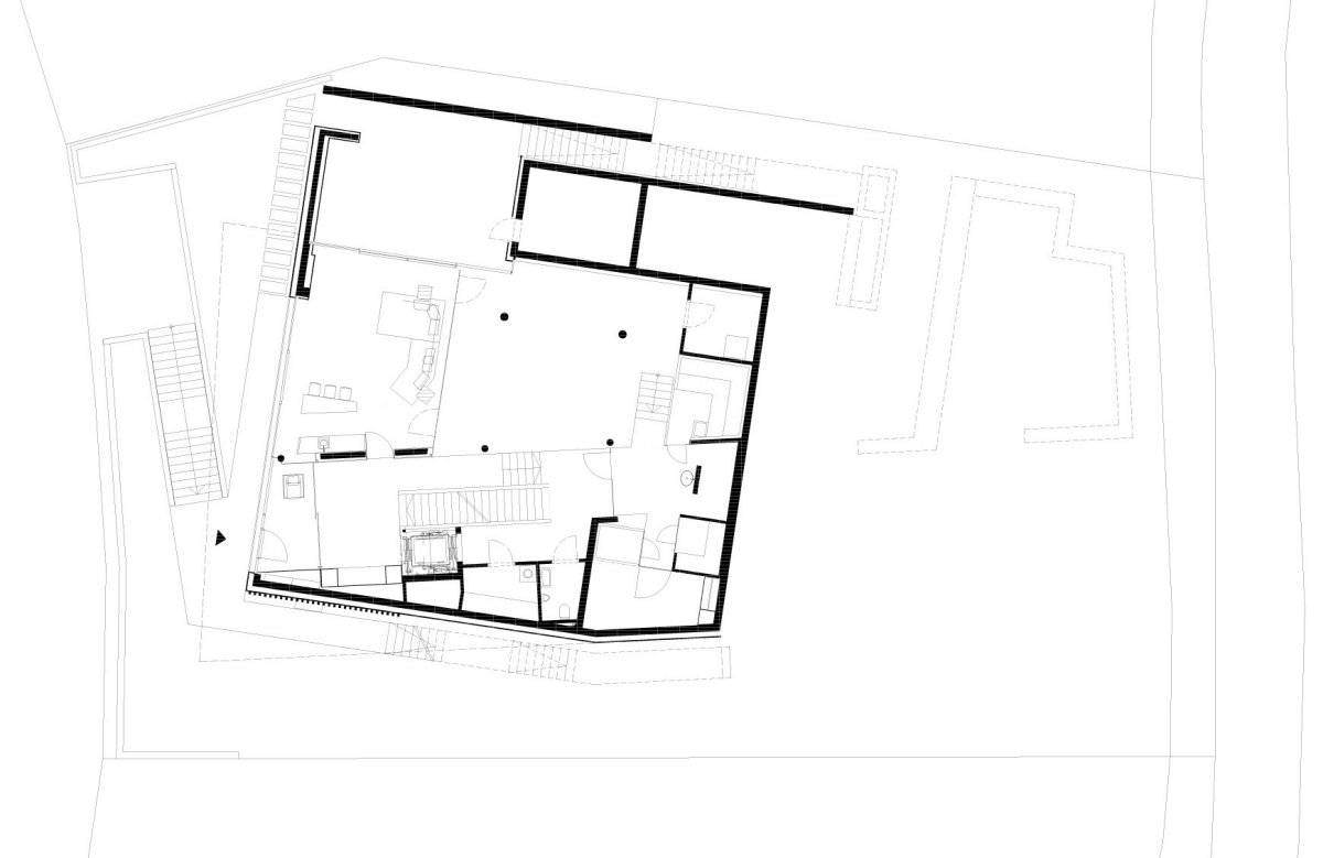 Ground Floor Plan, KS House in Stein, Austria