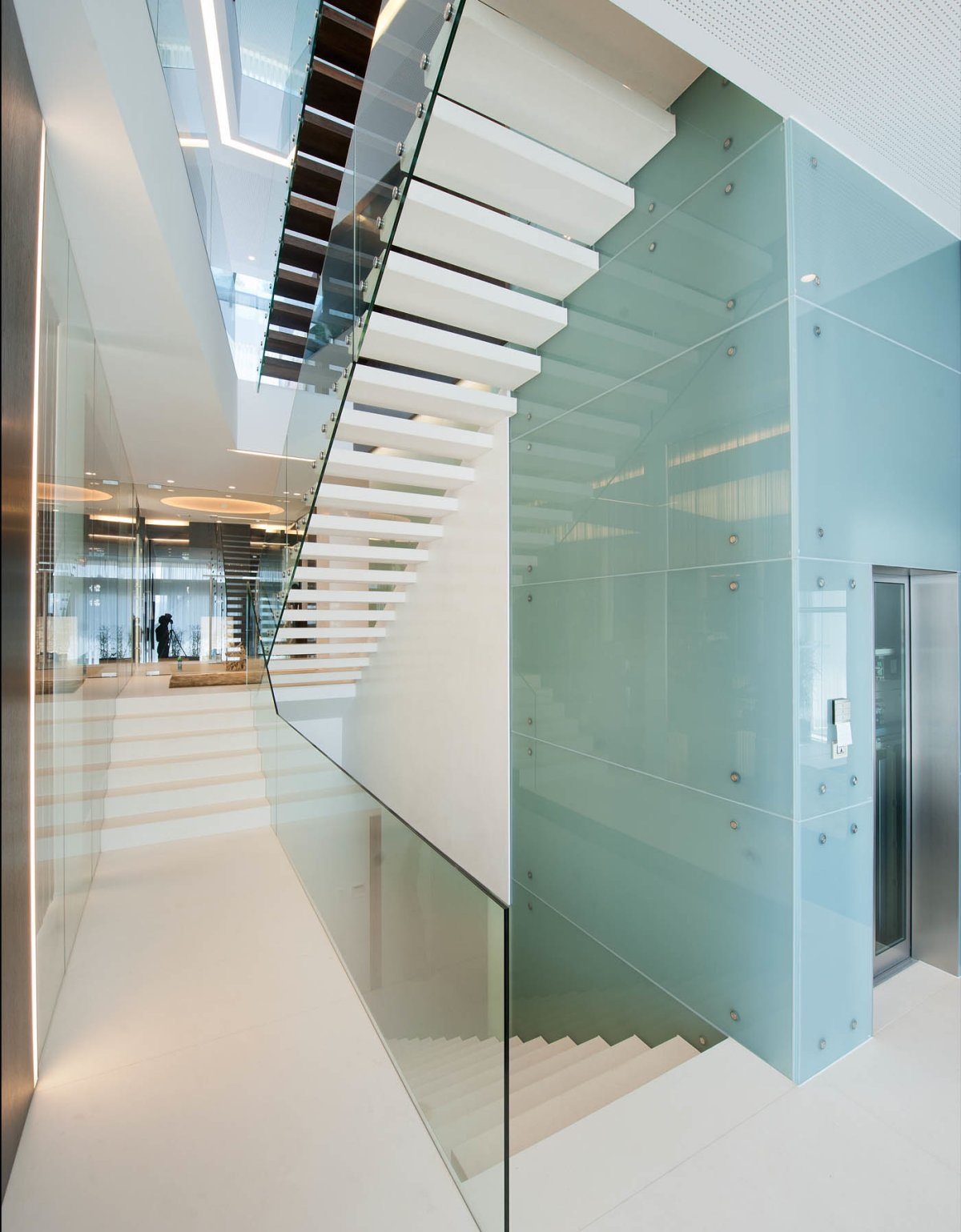 Modern Glass Stairs, KS House in Stein, Austria