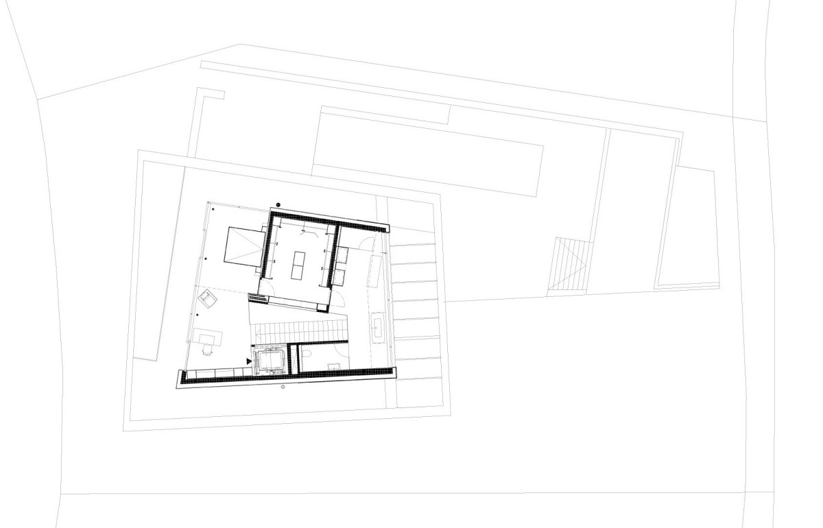 Second Floor Plan, KS House in Stein, Austria