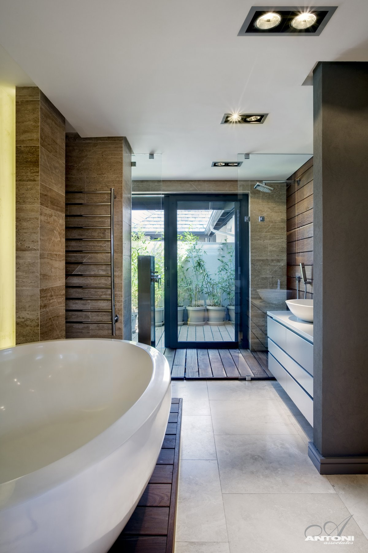 Bathroom, Glass Shower, Luxurious Interior, Pearl Valley Golf Estate, South Africa