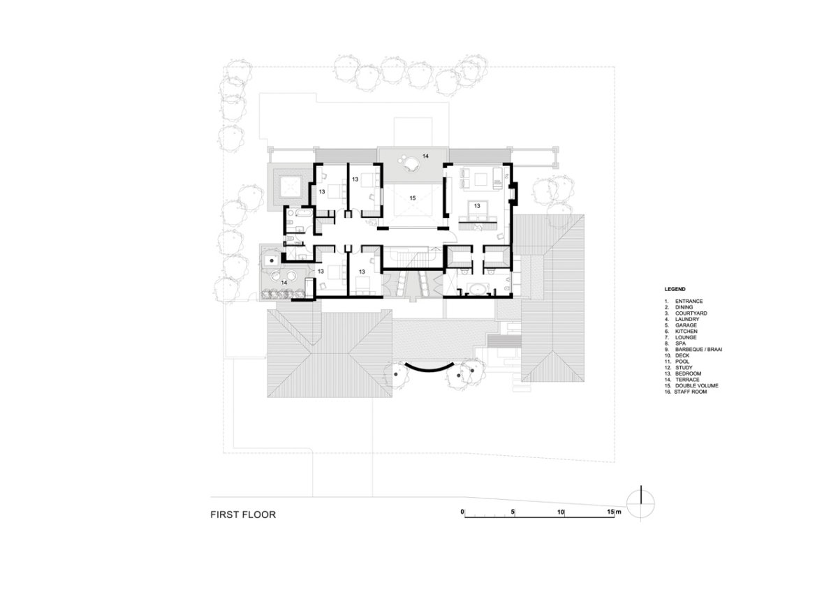 First Floor Plan, Luxurious Interior, Pearl Valley Golf Estate, South Africa