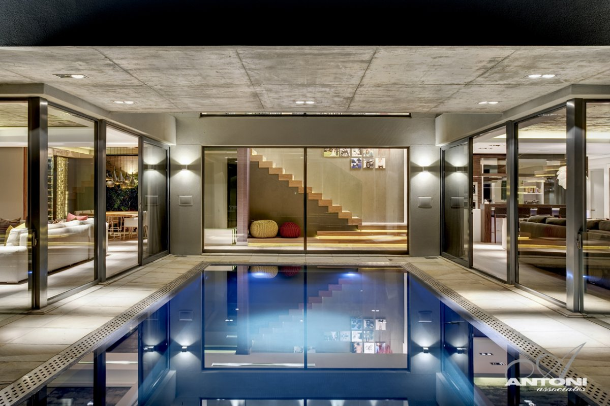 Indoor Swimming Pool, Luxurious Interior, Pearl Valley Golf Estate, South Africa