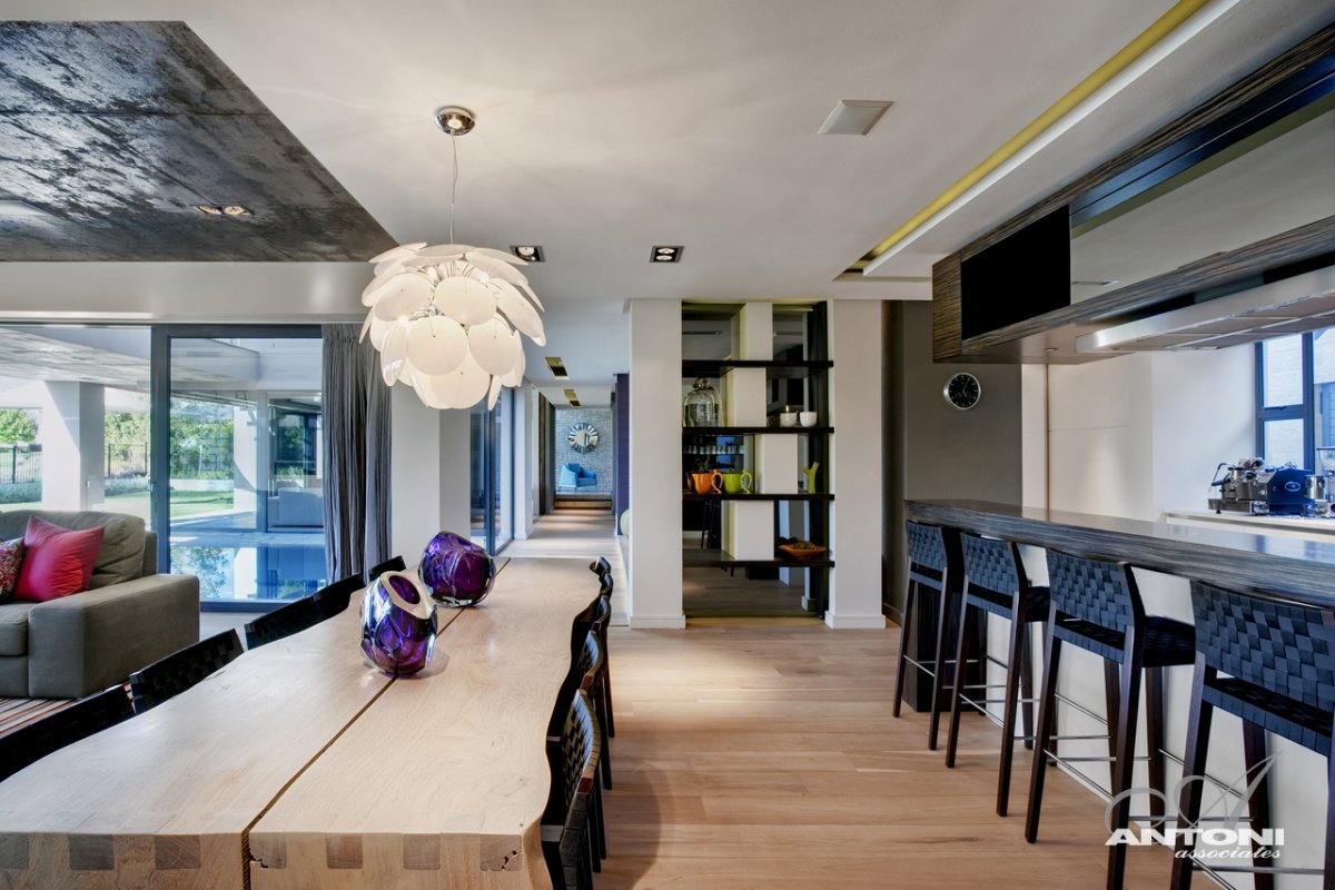 Breakfast Bar, Dining Table, Luxurious Interior, Pearl Valley Golf Estate, South Africa