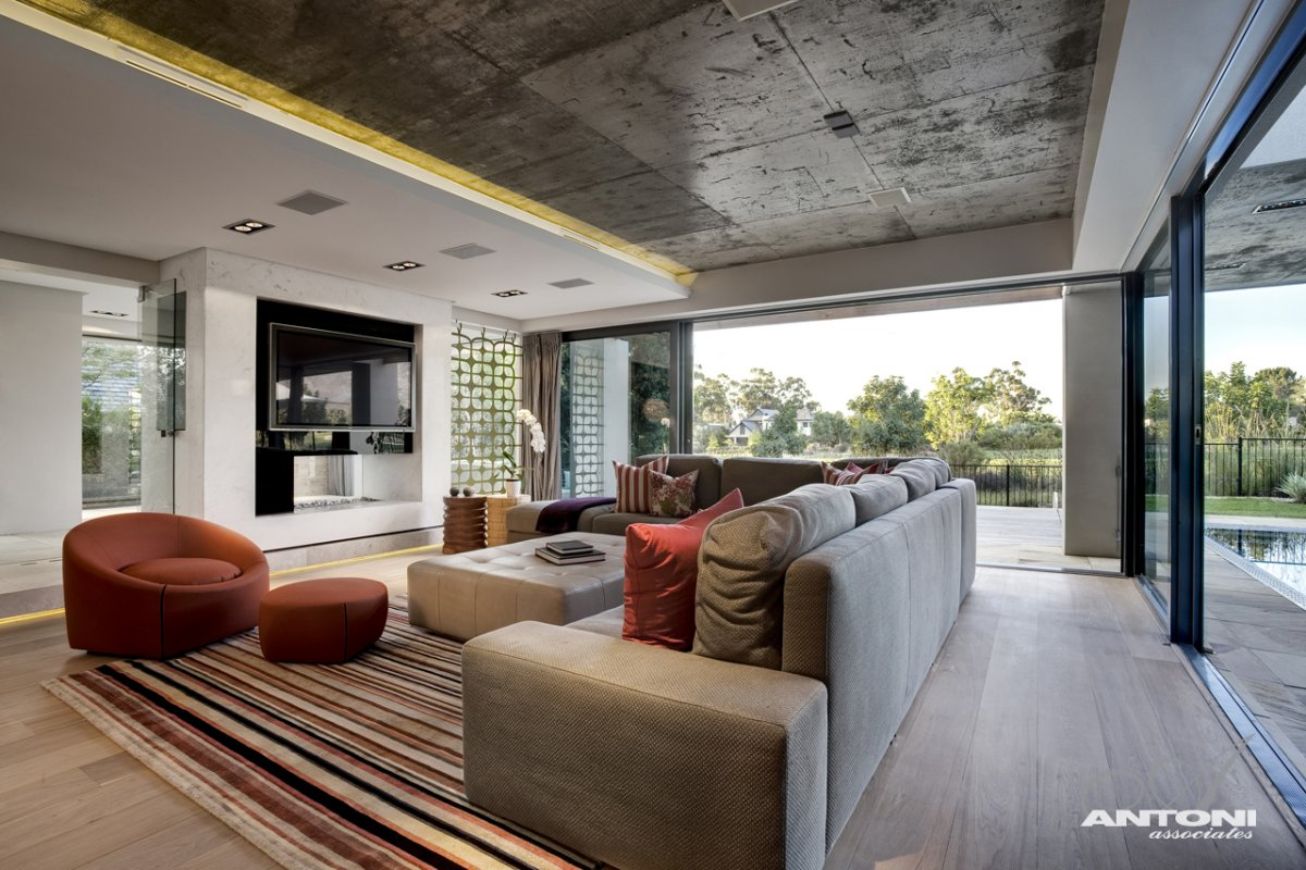Living Room, Sofas, Lighting, Luxurious Interior, Pearl Valley Golf Estate, South Africa