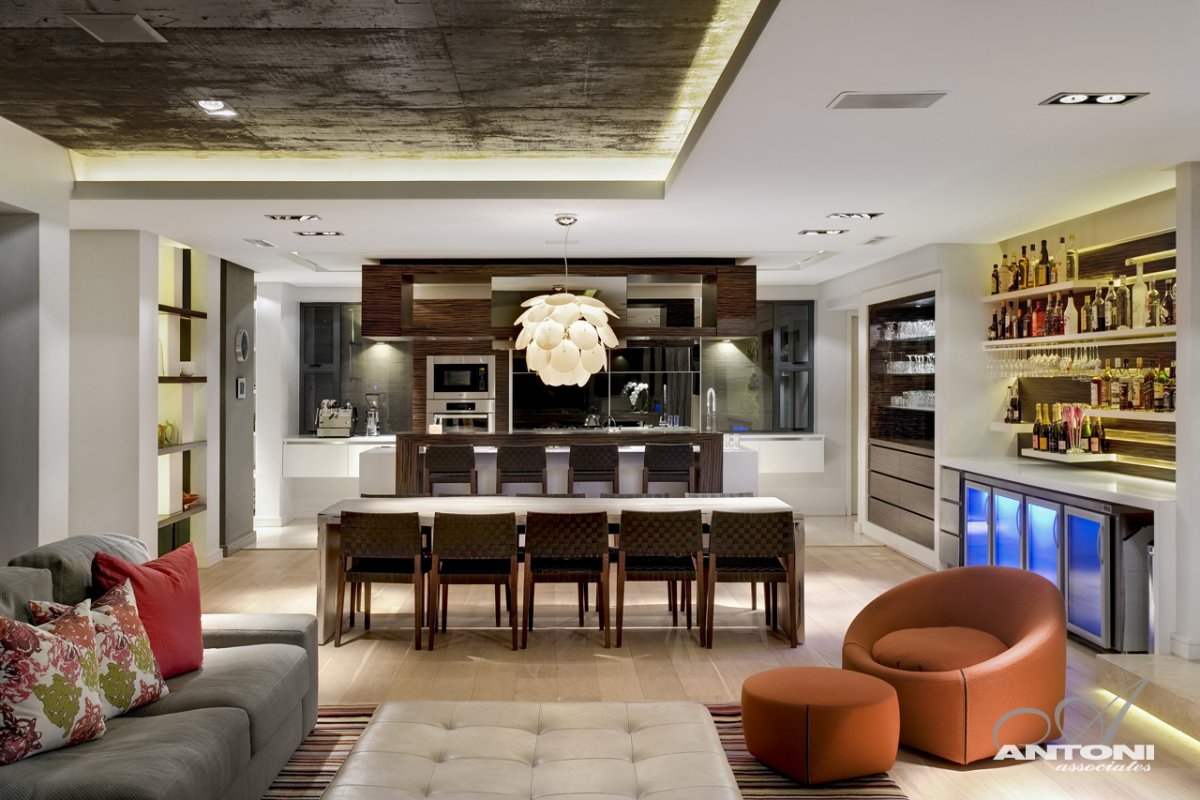 Open Plan Kitchen, Dining, Luxurious Interior, Pearl Valley Golf Estate, South Africa