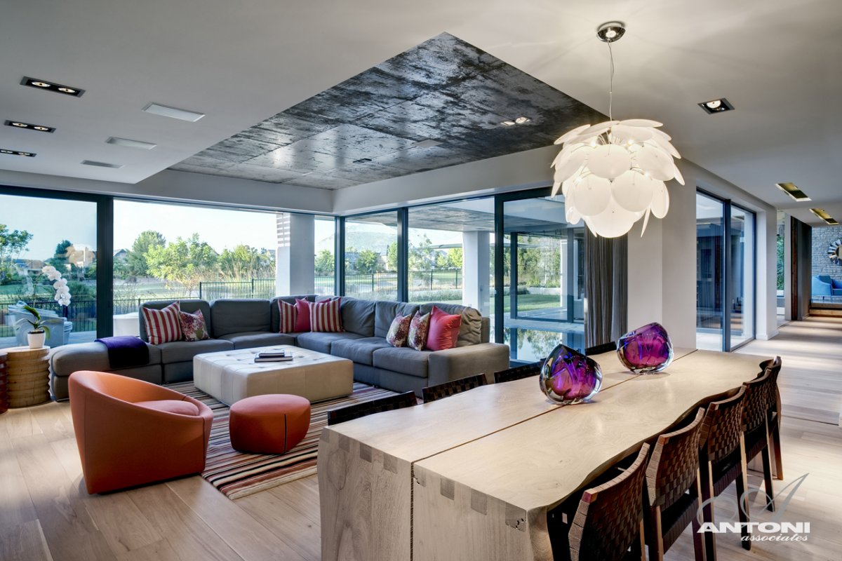 Sofas, Open Plan Living & Dining Space, Luxurious Interior, Pearl Valley Golf Estate, South Africa