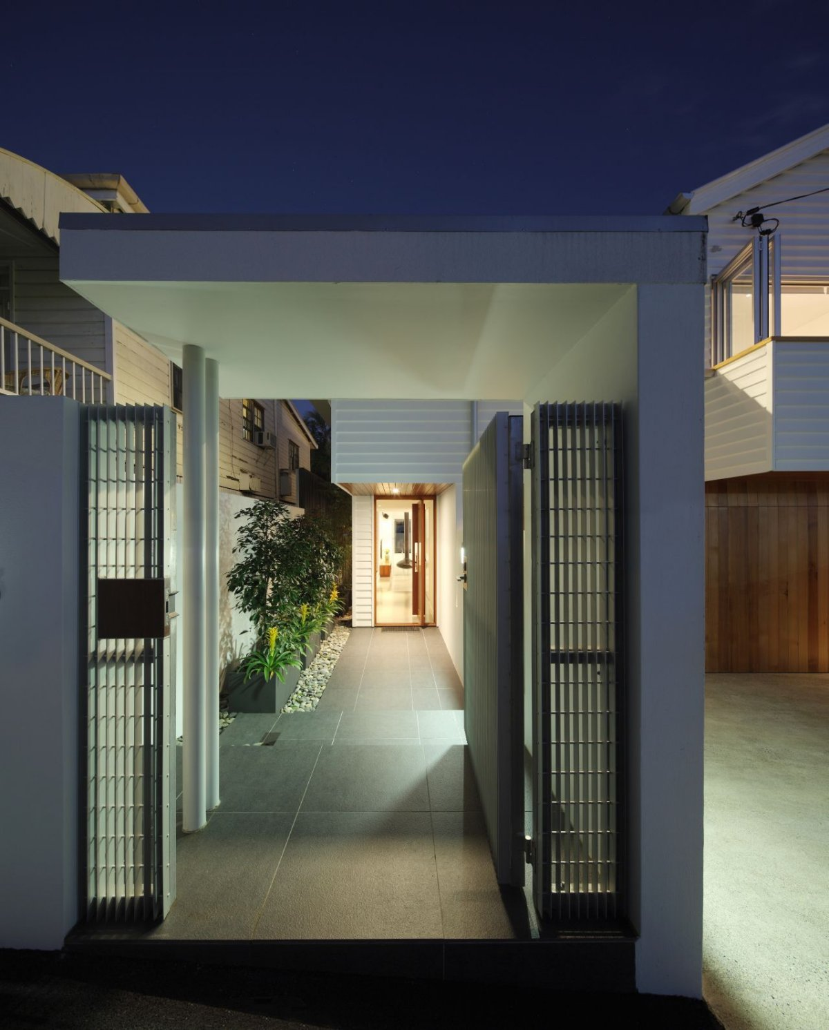 Entrance, Contemporary Family Home in Queensland, Australia