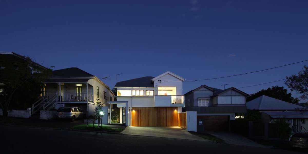 Garage, Contemporary Family Home in Queensland, Australia