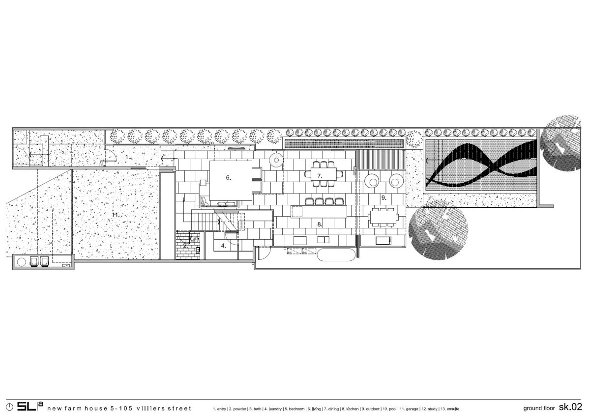 Ground Floor Plan, Contemporary Family Home in Queensland, Australia