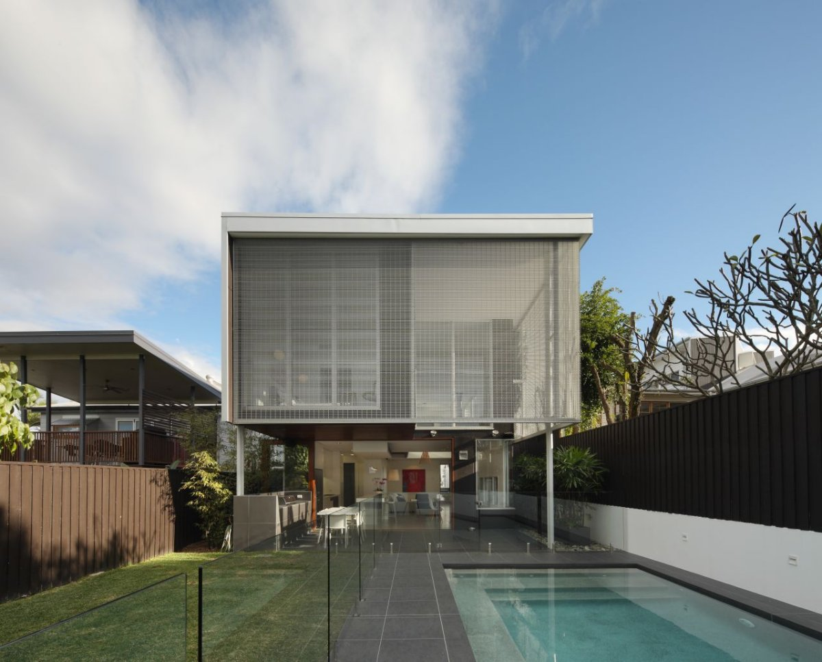 Pool, Glass Balustrading, Contemporary Family Home in Queensland, Australia