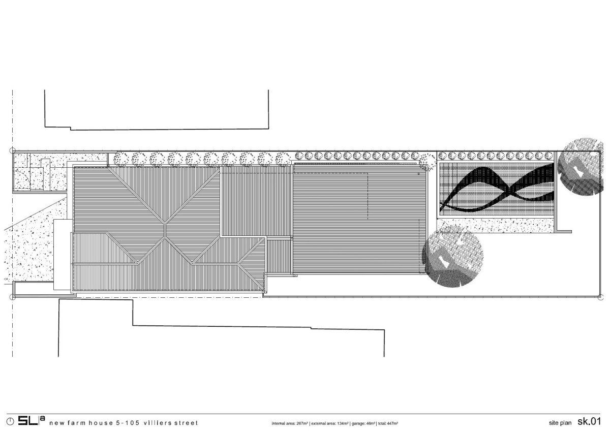 Site Plan, Contemporary Family Home in Queensland, Australia