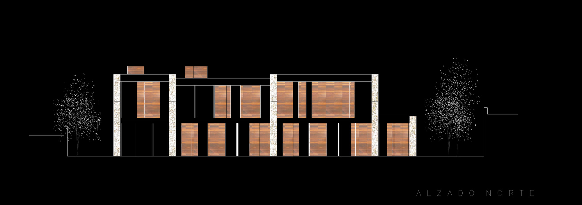 Diagram, Contemporary Home in Monasterios, Spain