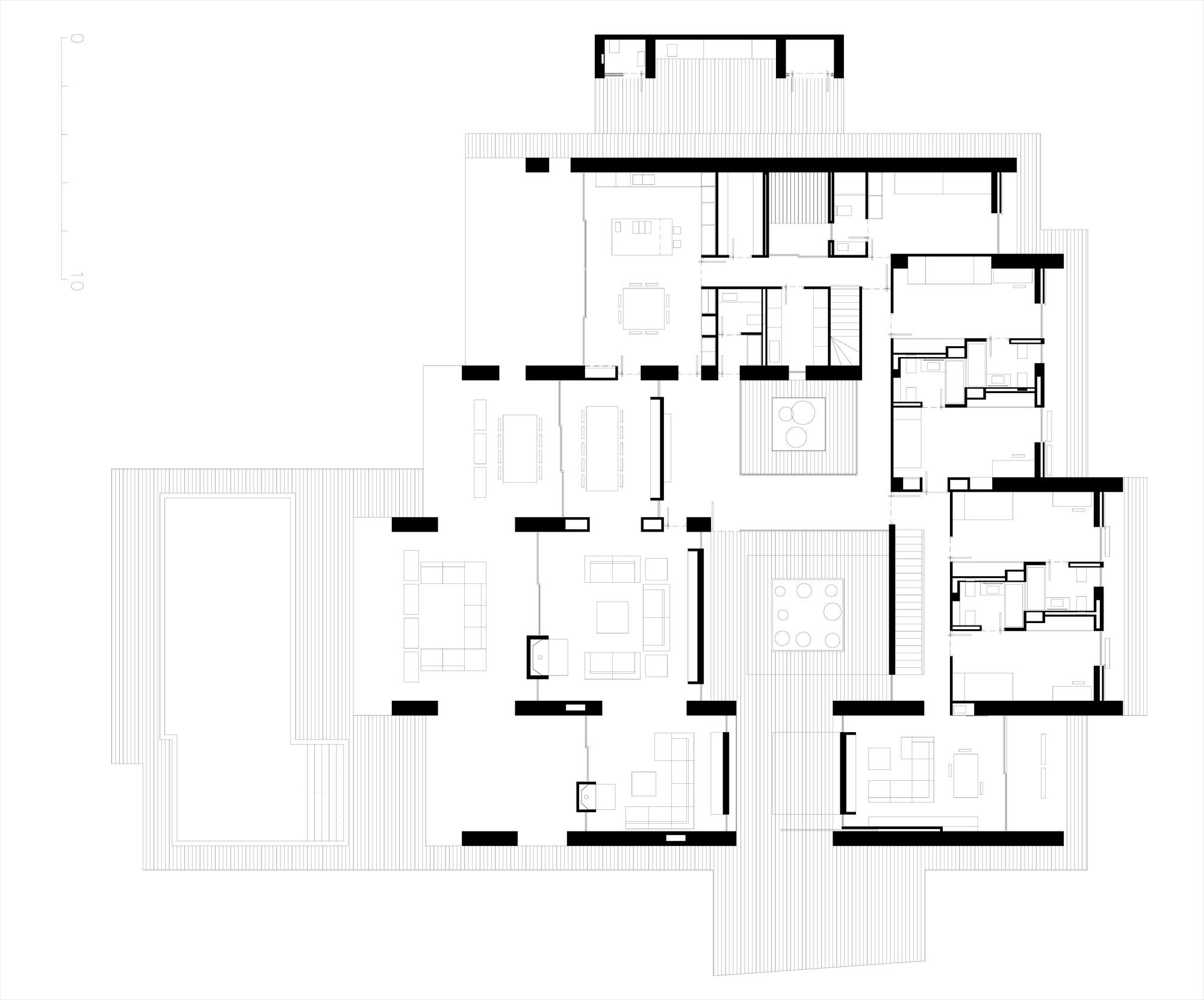 First Floor Plan, Contemporary Home in Monasterios, Spain