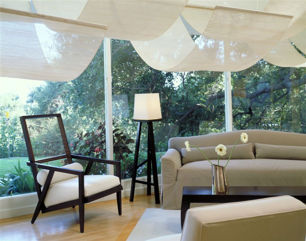 Chair, Sofa, Lighting, Elegant Modern Interior in Southern California