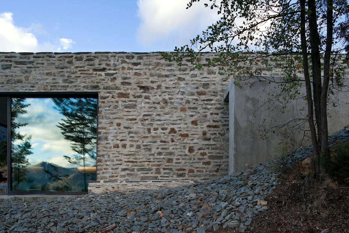 Concrete, Stone, Mountain Retreat in Closeburn Station, New Zealand