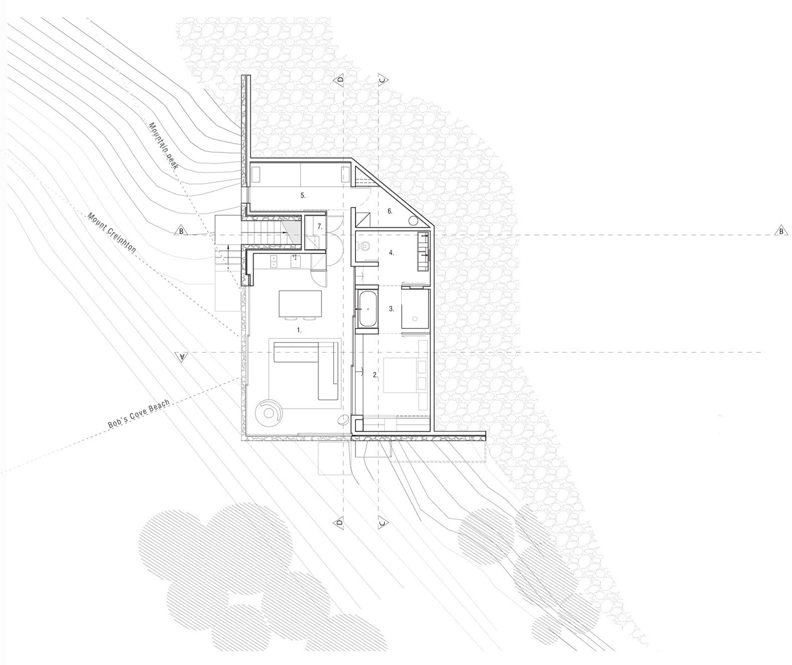 Floor Plan, Mountain Retreat in Closeburn Station, New Zealand