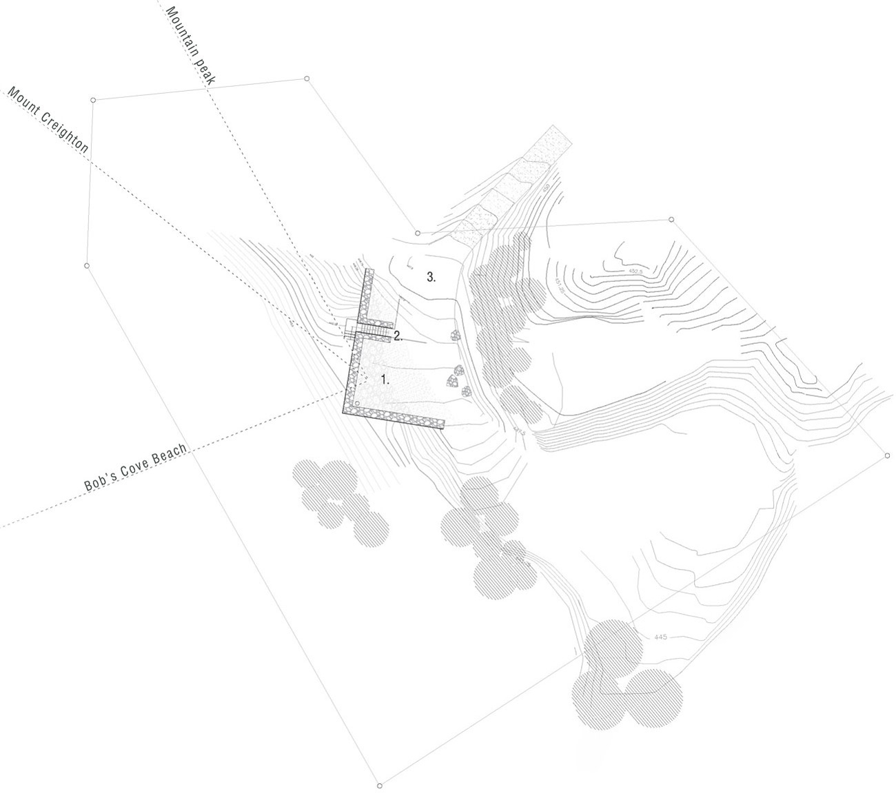 Site Plan, Mountain Retreat in Closeburn Station, New Zealand