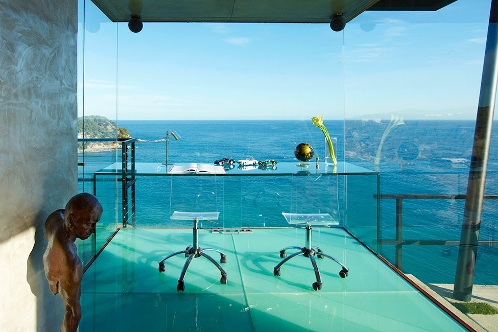 Glass Office, Ocean Views, Spectacular Oceanfront Home in Tossa De Mar, Spain