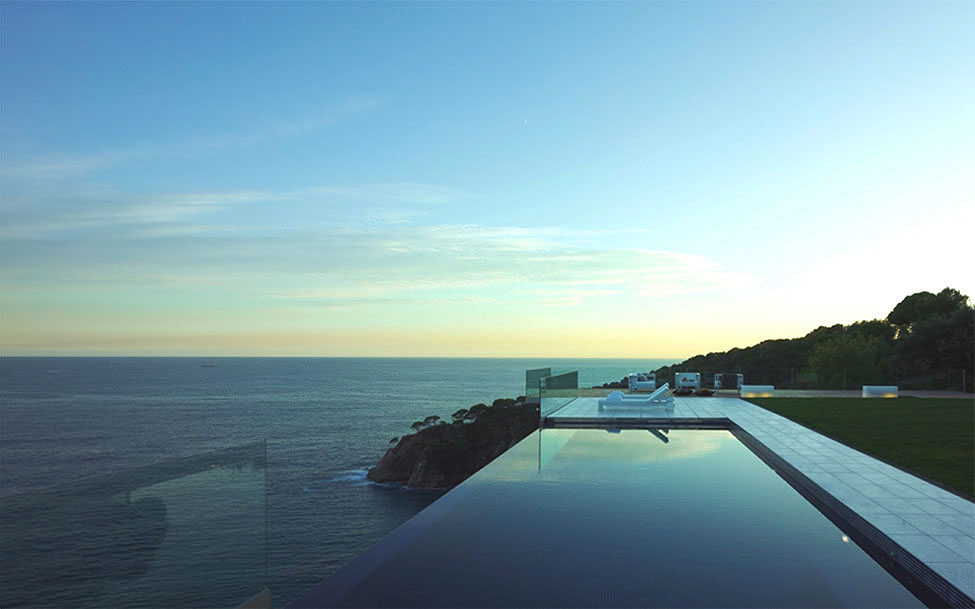 Infinity Pool, Glass Balustrading, Spectacular Oceanfront Home in Tossa De Mar, Spain