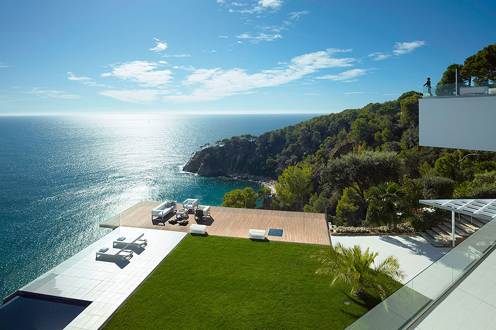 Terrace, Lawn, Ocean Views, Spectacular Oceanfront Home in Tossa De Mar, Spain