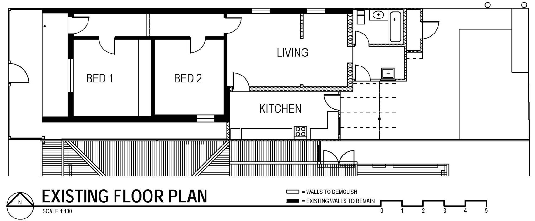 Existing Floor Plan, Modern Renovation in Fitzroy North, Australia
