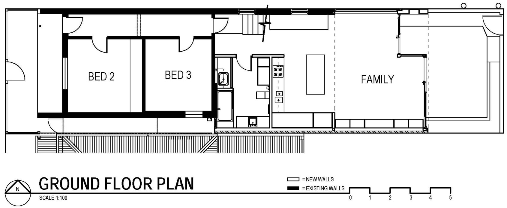 Ground Floor Plan, Modern Renovation in Fitzroy North, Australia