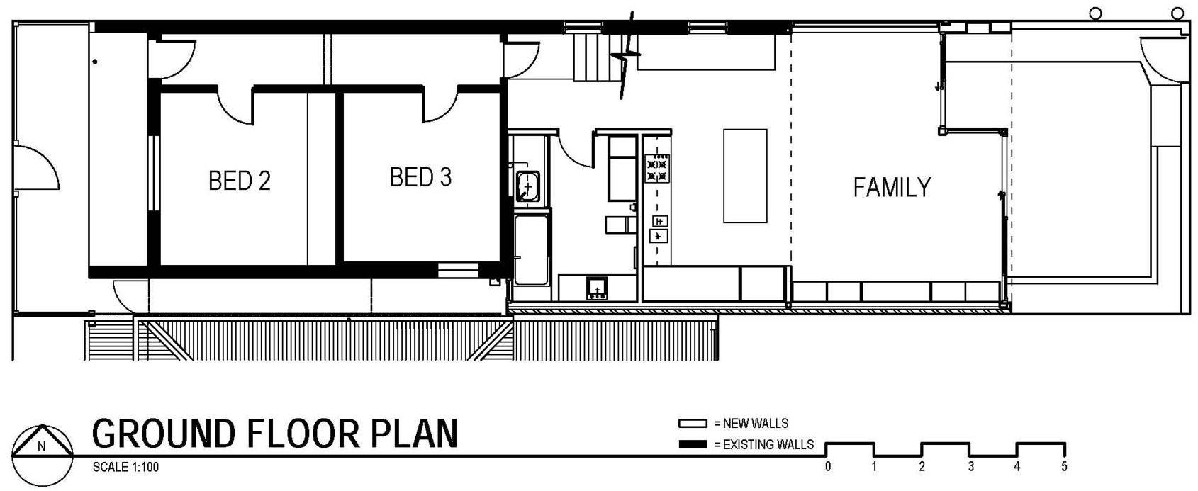 Ground Floor Plan, Modern Renovation in Fitzroy North, Australia