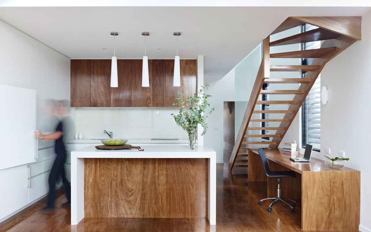 Kitchen Island, Modern Renovation in Fitzroy North, Australia