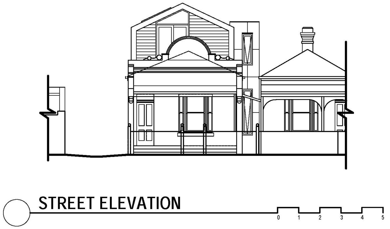 Street Elevation, Modern Renovation in Fitzroy North, Australia