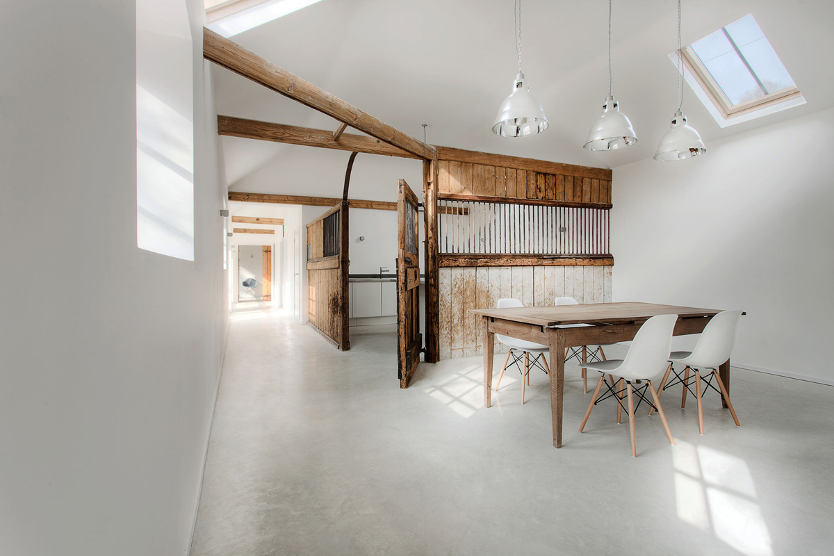 Dining Table, Lighting, Converted Stables in Winchester, England