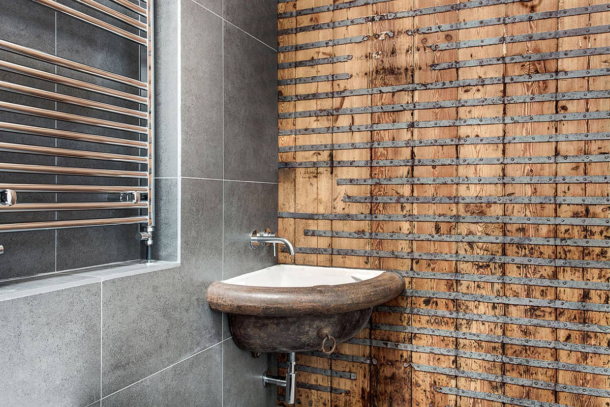 Modern Rustic Bathroom, Converted Stables in Winchester, England