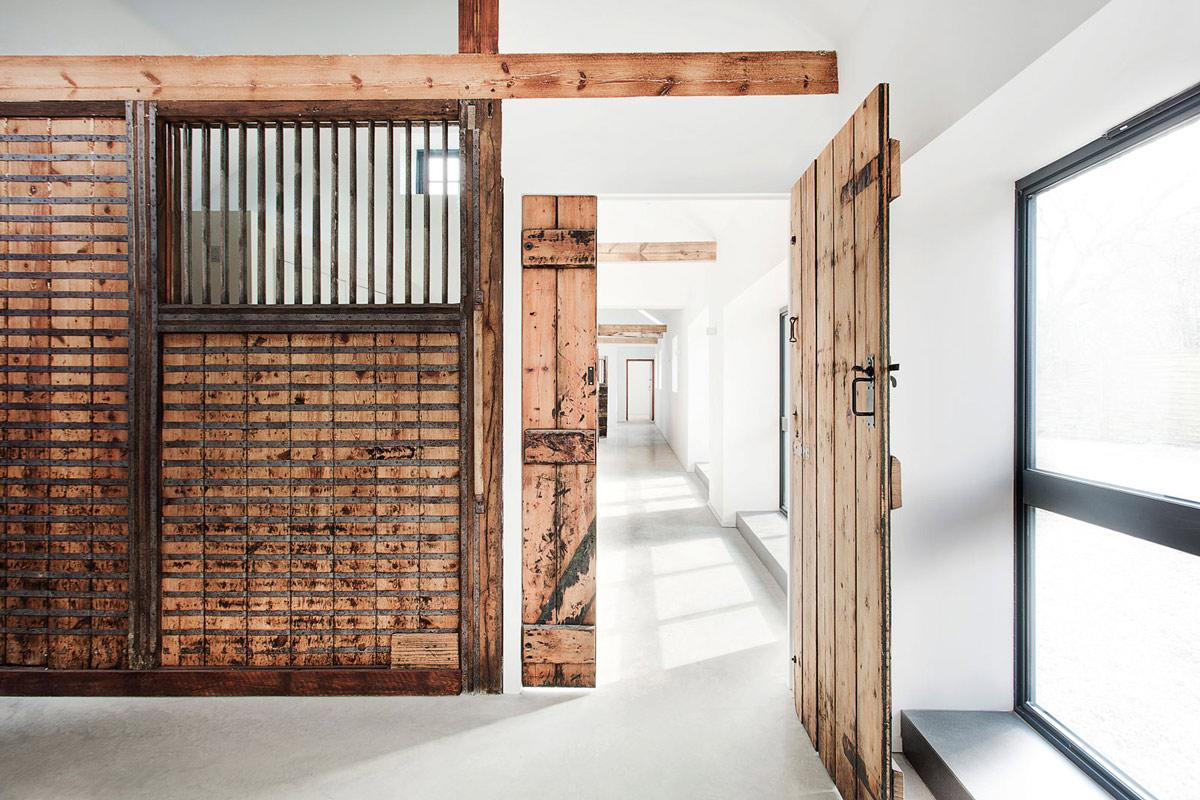 Rustic Wooden Walls & Door, Converted Stables in Winchester, England