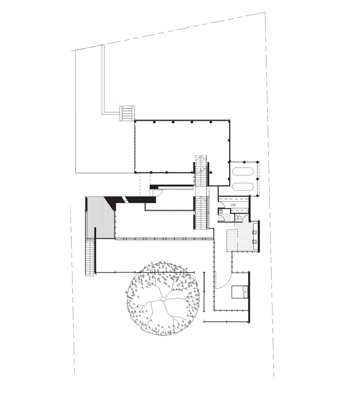 First Floor Plan, Taringa House in Brisbane, Australia