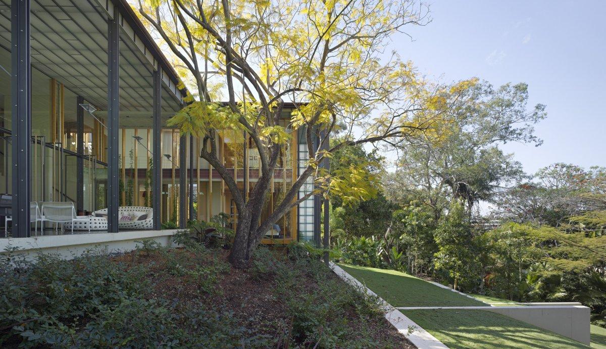 Garden Terrace, Taringa House in Brisbane, Australia