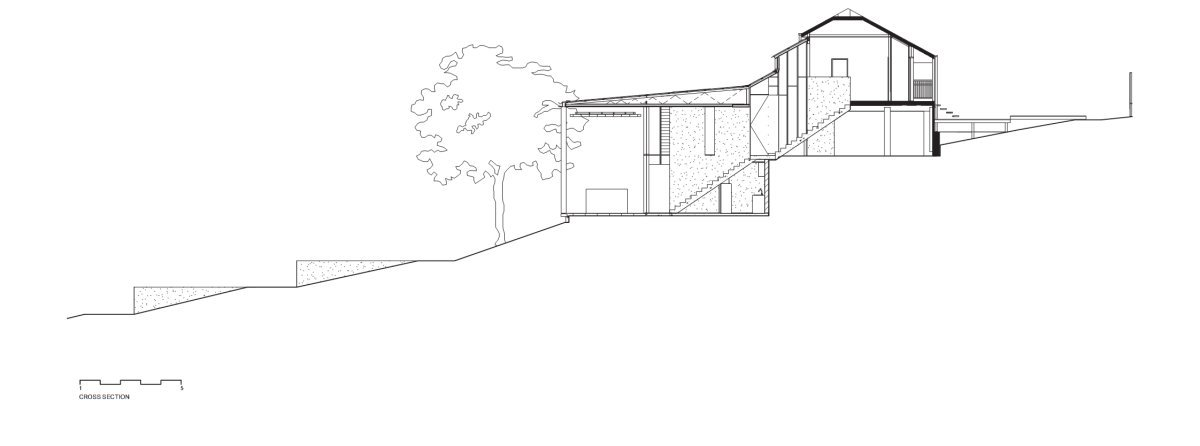 Section, Taringa House in Brisbane, Australia