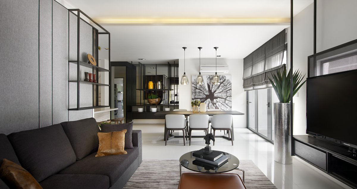 compact living space modern townhouse in kuala lumpur malaysia - Compact House Interior