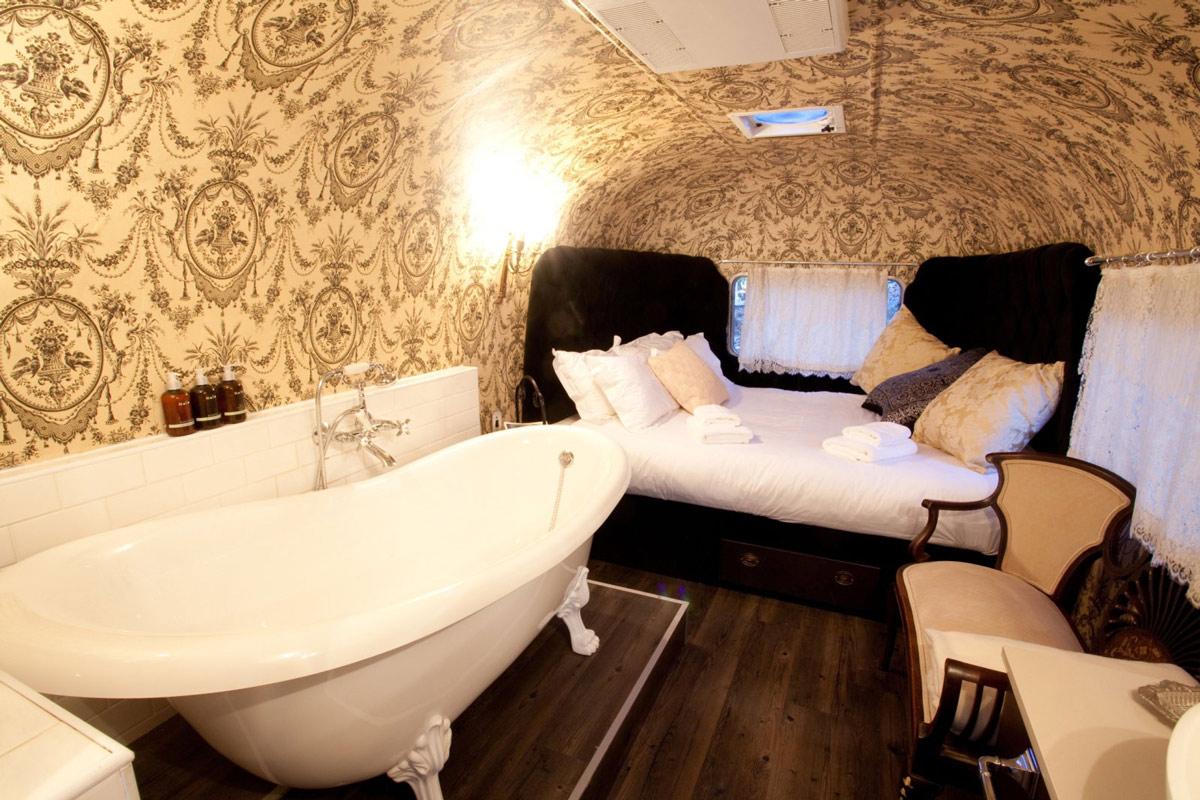 Bathroom, Bedroom, Trailer, Old Mac Daddy, Luxury Trailer Park in South Africa