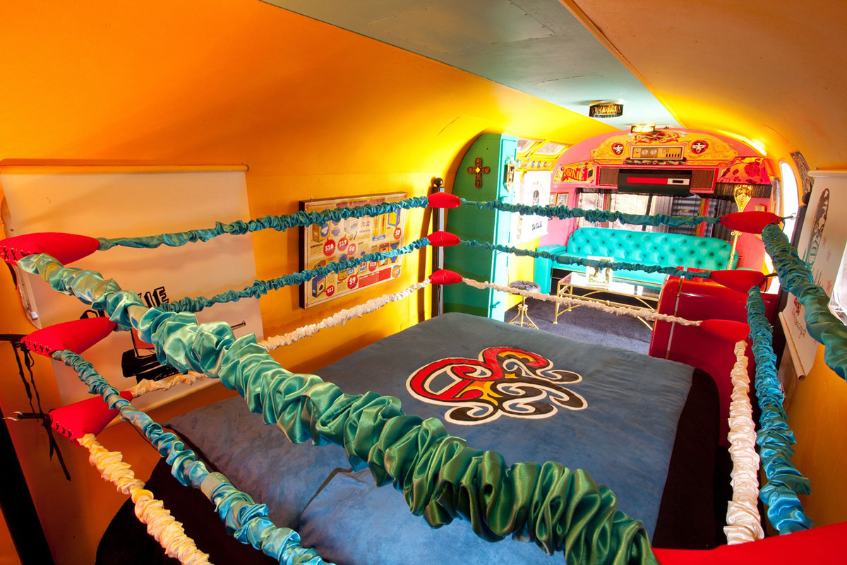 Boxing Themed Trailer, Old Mac Daddy, Luxury Trailer Park in South Africa