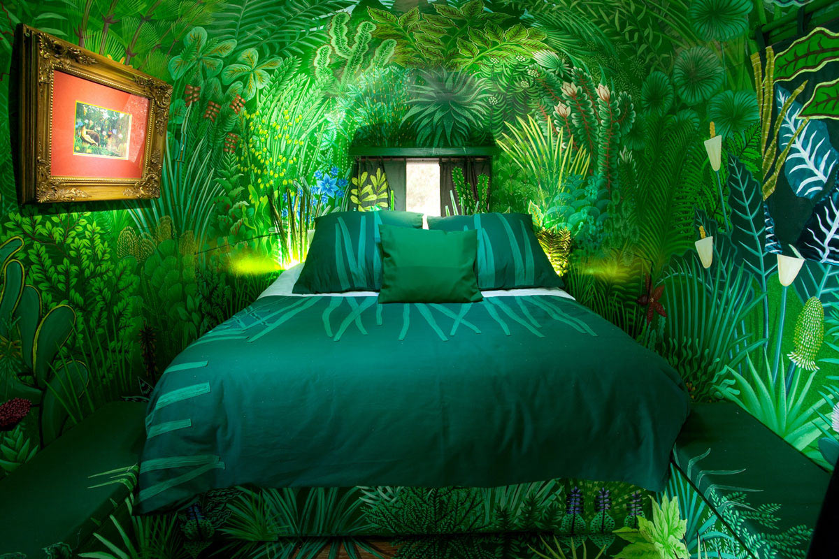 Jungle Themed Bedroom, Old Mac Daddy, Luxury Trailer Park in South Africa