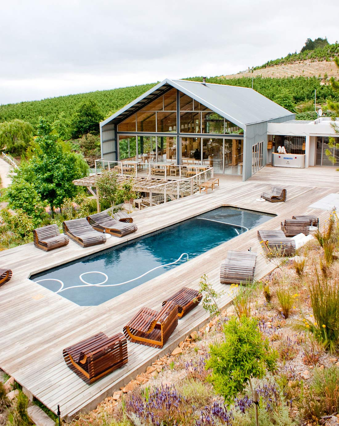 Superb Outdoor Pool, Wood Terrace, Restaurant, Old Mac Daddy, Luxury Trailer Park  In South Africa