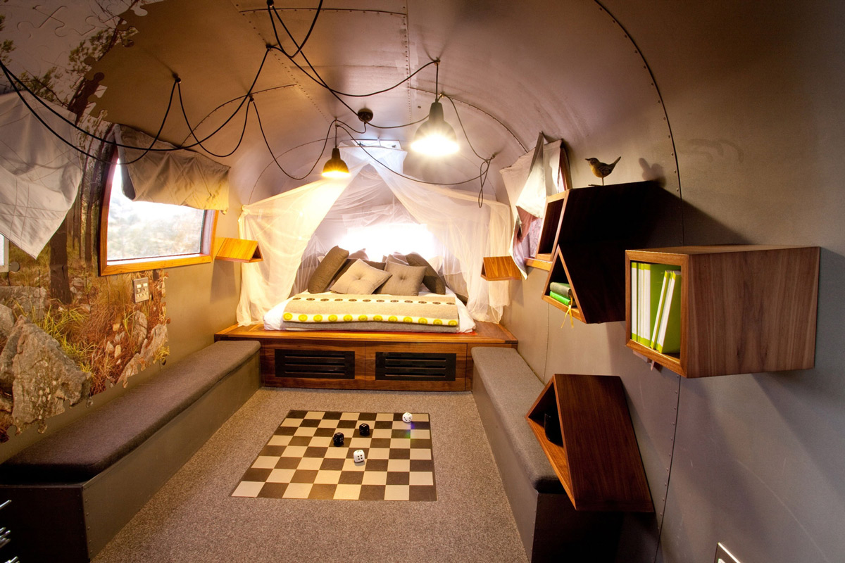 Trailer, Bedroom Lighting, Old Mac Daddy, Luxury Trailer Park in South Africa