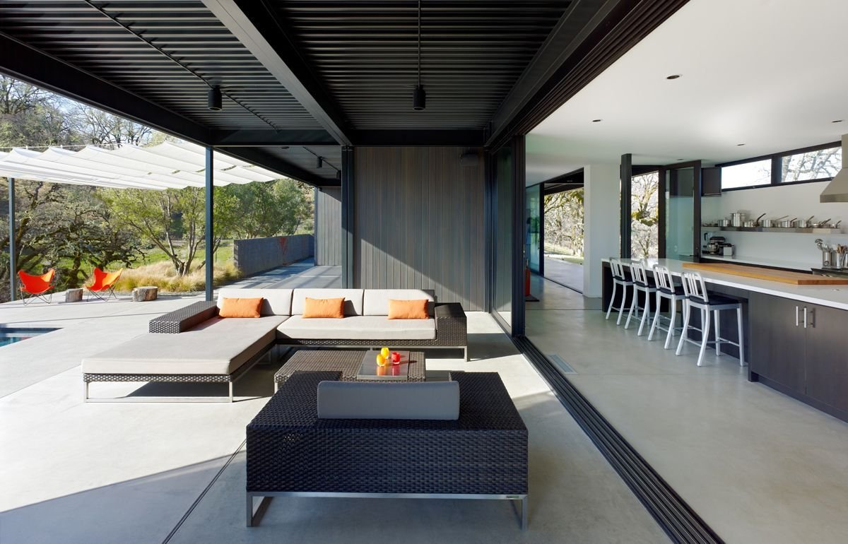 Patio Doors, Kitchen, Vacation Home in Mendocino County, California