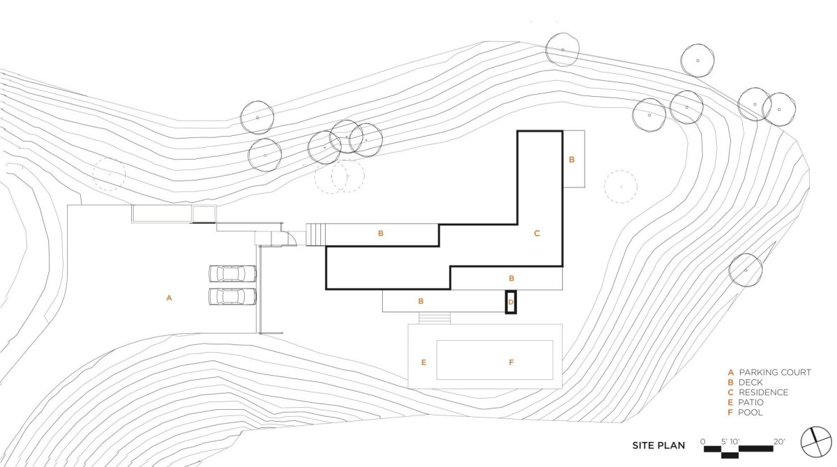 Site Plan, Vacation Home in Mendocino County, California