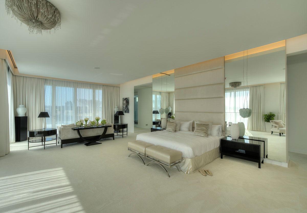 Mirrors, Lighting, Bedroom, The Reserve, Luxury Villas in Al Barari, Dubai