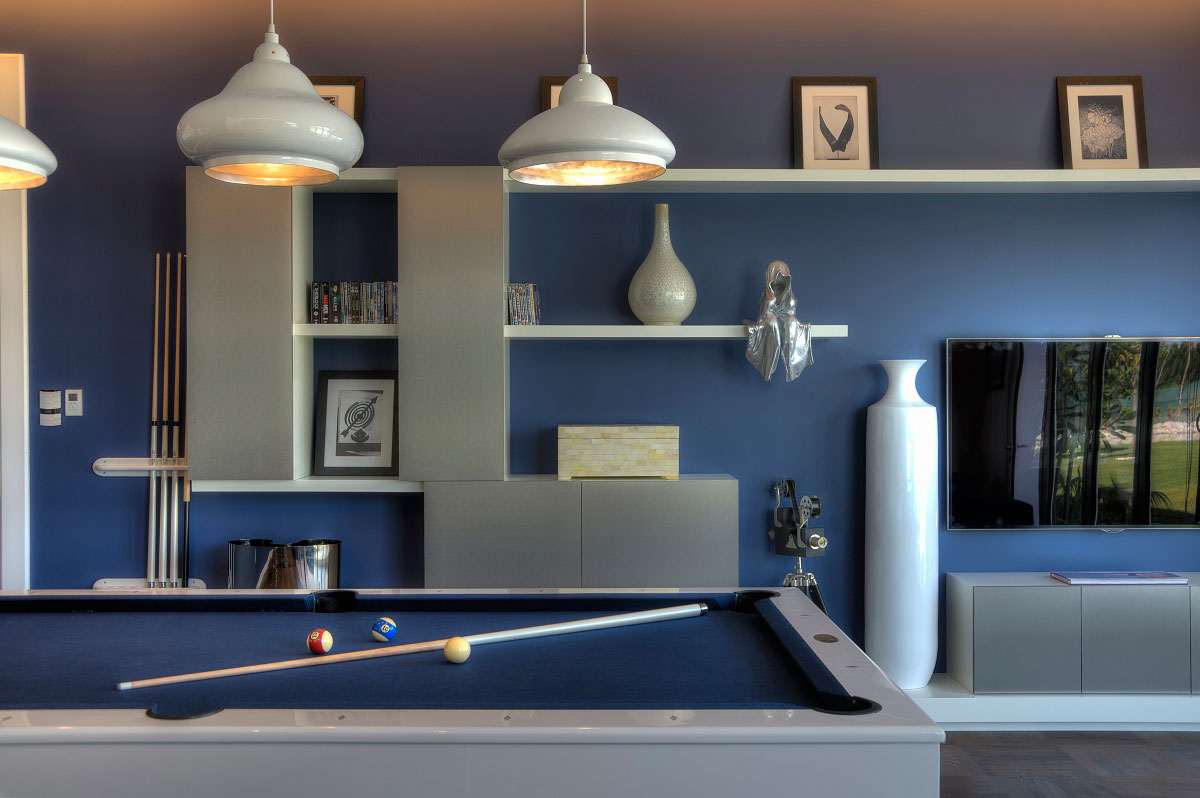 Games Room, Pool Table, Lighting, The Reserve, Luxury Villas in Al Barari, Dubai