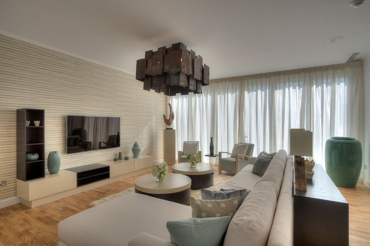 Modern Living Space, The Reserve, Luxury Villas in Al Barari, Dubai