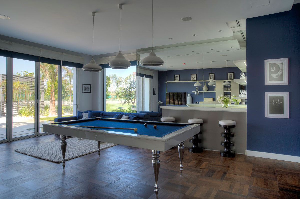 Modern Pool Table, The Reserve, Luxury Villas in Al Barari, Dubai