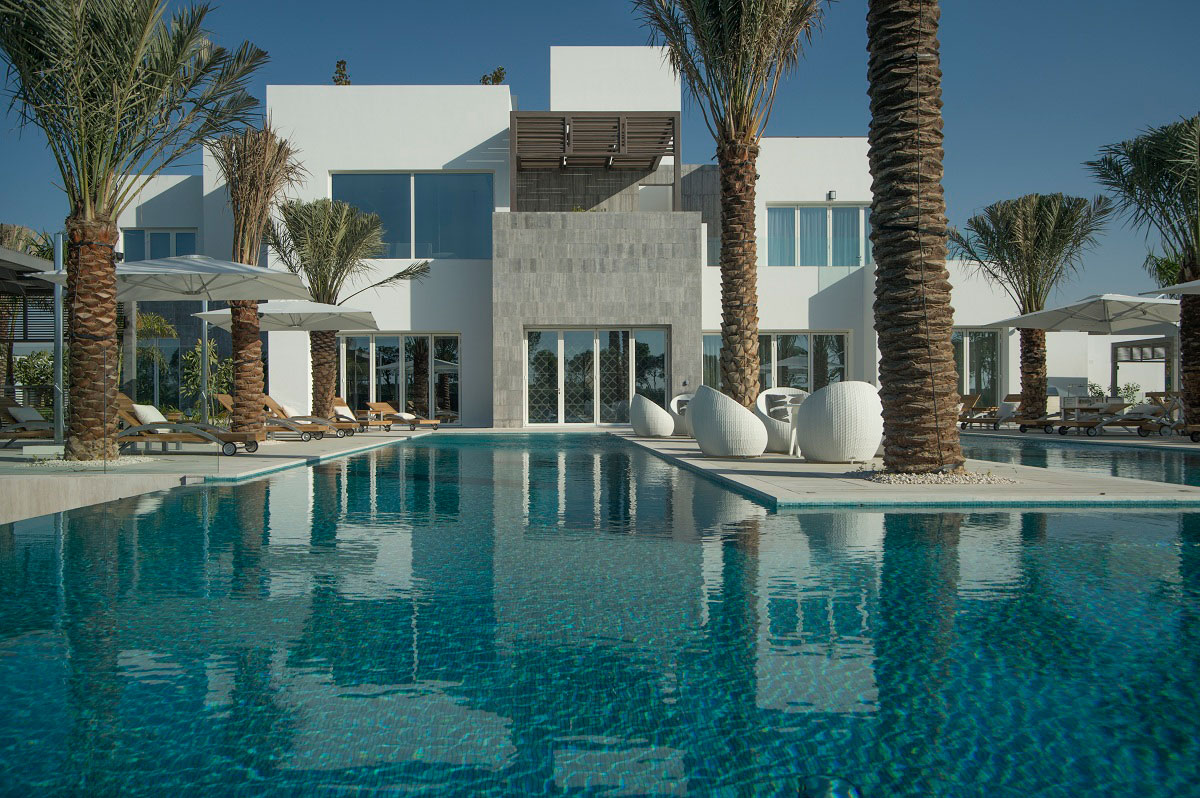 Pool Terrace The Reserve Luxury Villas In Al Barari Dubai