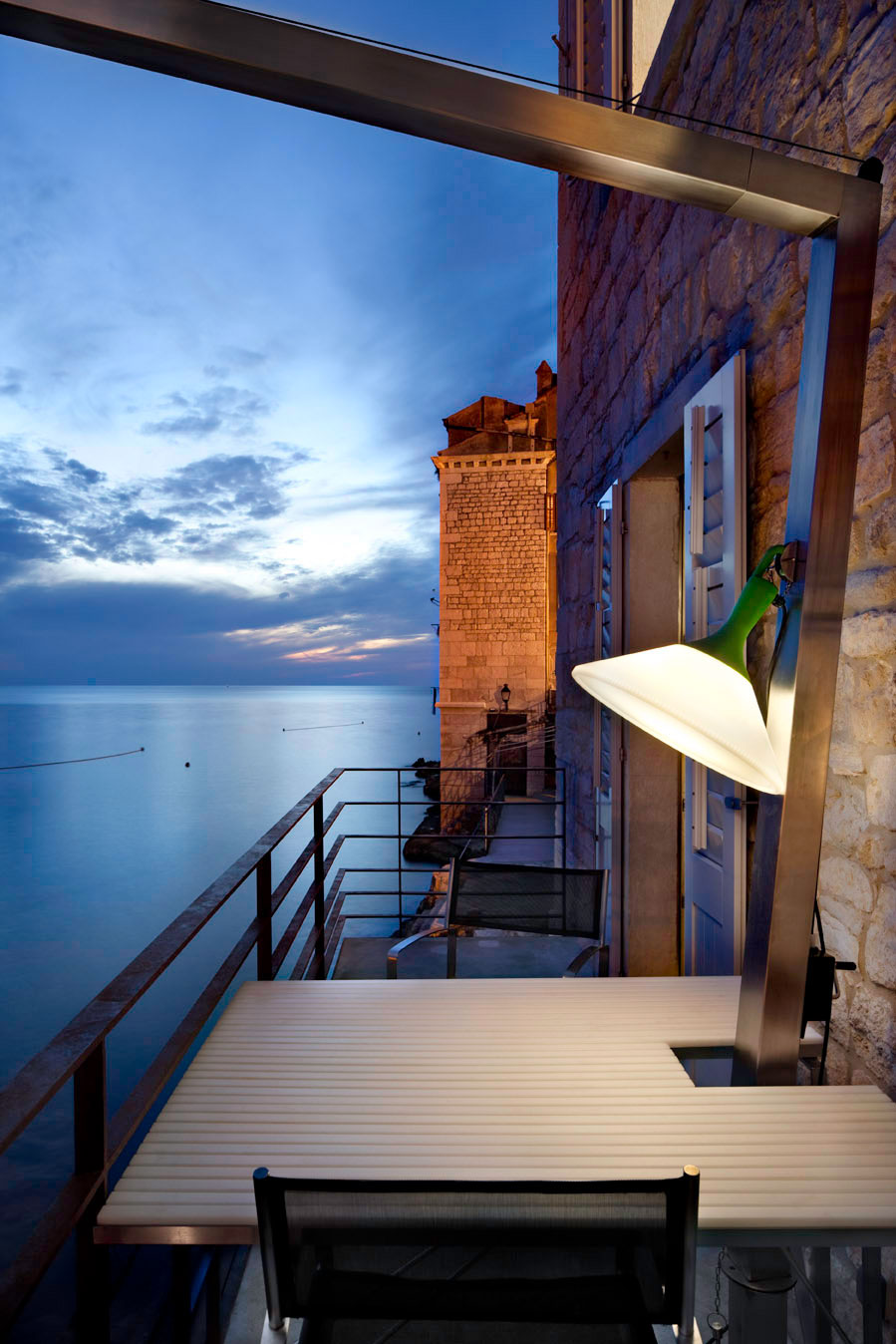 Balcony, Sea Views, Renovation of an 18th Century Building in Rovinj, Croatia